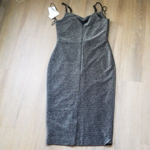1. State Dresses - 1.State Silver Dress sz 6 NWT